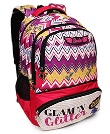 Barbie School Bag Glam & Glitter Print Multicolour - 19 Inches
