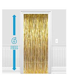 Party Propz Decorative Foil Curtain Set Of 2 - Golden