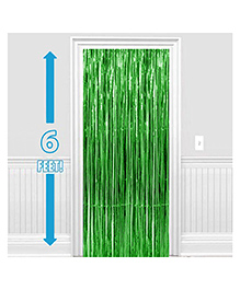 Party Propz Decorative Foil Curtain Set Of 2 - Green