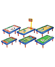 Emob 6 In 1 Table Top Games Set - Multicolour