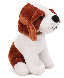 Dimpy Stuff Puppy Soft Toy Brown White - 18 Cm