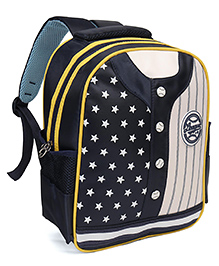School Bag Star Print Navy Blue - 12.7 Inches