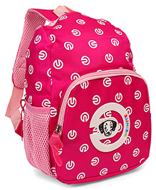 Puppy Print School Bag Pack Pink - 11.9 Inches