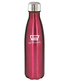 All Time Cresta Stainless Steel Vaccum Flask Maroon - 1000 Ml