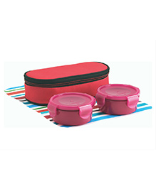 All Time Lunch Box Set With Insulated Bag - Pink