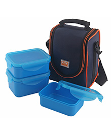 All Time 3 Piece Lunch Box Set With Insulated Carry Bag And Place Mat - Blue