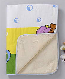 Baby Mat With Bunny Print - Multi Color