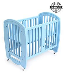 Babyhug Compacto Cot Cum Rocker And Study Table - Blue
