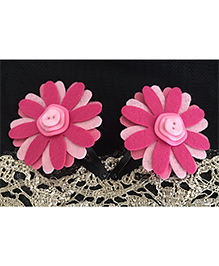 Kalacaree Flower Theme Hair Clips - Pink