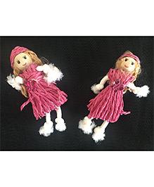 Kalacaree Doll Theme Hair Clips - Pink