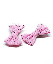 Pigtails And Ponys Smart Polka Dots Alligator Clips Pack Of 2 - Pink