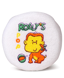 Bath Sponge With Monkey Print - Yellow