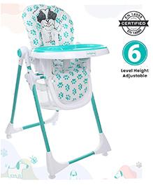 Babyhug High Chair Puppy Print - White Sea Green