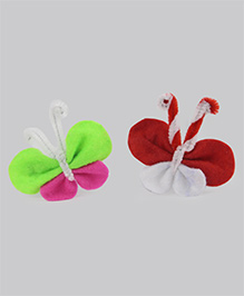 Tia Hair Accessories Pair Of 2 Alligator Clip Butterfly - Multicolor