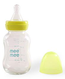 Mee Mee Premium Glass Feeding Bottle Green - 120 Ml