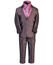 SAPS - Party Wear Suit With Contrast Satin Shirt