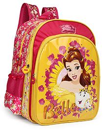 Disney Princess Belle School Bag Yellow Pink - 14 Inches