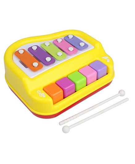 Toyshine Musical Xylophone Cum Piano (Assorted Colours)
