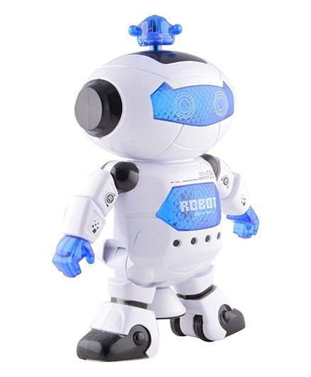 Toyshine Dancing Robot With 3D Lights And Music - Blue White