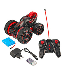 Toyshine Remote Control Rechargeable Stunt Car With Lights (Colour May Vary)