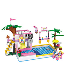Webby Pool Party Themed Building Blocks Set Multicolour - 302 Pieces