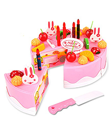 Webby Musical DIY Birthday Cake Toy Pink - 37 Pieces