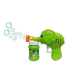 Saffire Baby Elephant Bubble Gun Toy With Free Bubble Liquid - Green