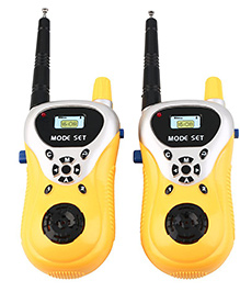 Webby Walkie Talkie With Range Up To 100 Feet - Yellow