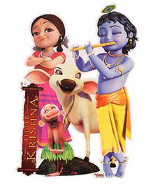 Sticker Bazaar Little Krishna With Cow Sticker Cut Out - Multi Colour
