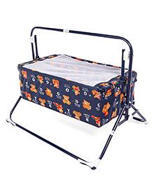 Mothertouch Wonder Cradle Teddy Bear Print - Navy Blue