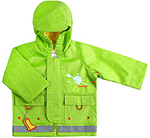 Kushies Baby - Green Rain Jacket