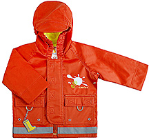 Kushies Baby - Orange Rain Jacket
