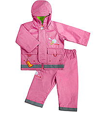Kushies Baby - Pink Rain Jacket and Pant Set