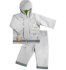 Kushies Baby - Silver Rain Jacket and Pant Set