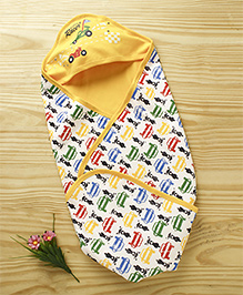 Cucumber Hooded Wrapper Vehicle Print - Yellow Multicolour