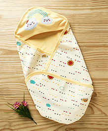 Cucumber Hooded Wrapper Sky Print - Yellow