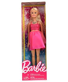 Barbie Fashion Doll With Neck Piece Pink - 10 Cm