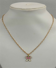 Tiny Closet Tiny Butterfly Necklace - Pink & White