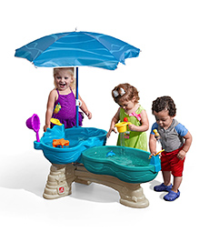 Step2 Spill & Splash Seaway Water Table With Umbrella - Blue