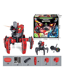 Emob Remote Controlled Spider Robot With Disc & Launcher - Red