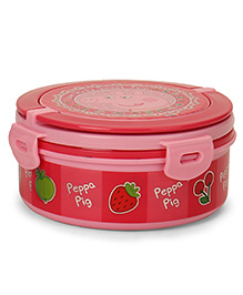 Peppa Pig Round Lunch Box With Handle - Pink