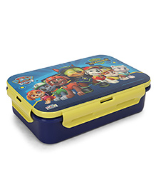 Paw Patrol Spies Unleashed Lunch Box With Fork & Spoon - Yellow Blue