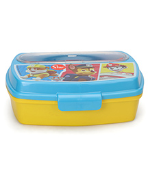 Paw Patrol Lunch Box With Cutlery - Yellow Blue