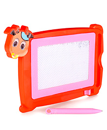 Writing Board With Pen Animal Shape - Orange