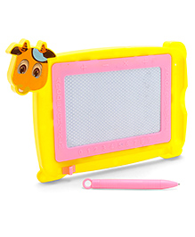 Writing Board With Pen Animal Shape - Yellow