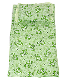 Printed Baby Bedding Set - Green