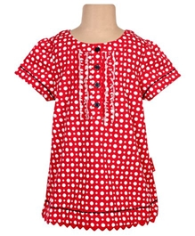 Ladybird - Short Sleeves Polka Dots Top