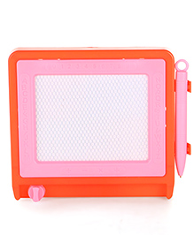 Writing & Doodle Board With Pencil - Orange Pink