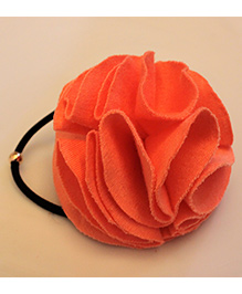 Many Frocks & Big Ruffle Rubber Band - Dark Peach
