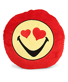 Archies Smiley Face Cushion - Red Green